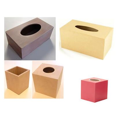 Picture of Wooden Tissue Box
