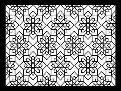 Picture of Laser Cut Stencil Design No. 208 Plastic