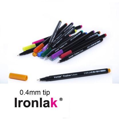 Picture of Ironlak Markers 0.4mm Fineliner