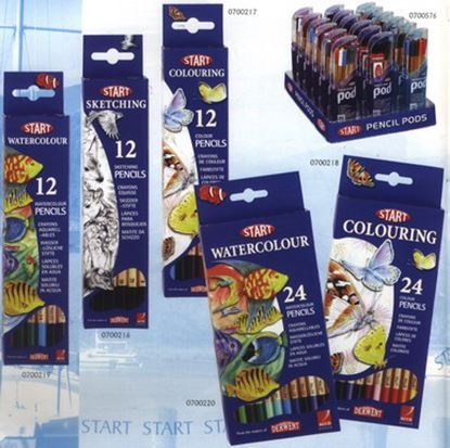 Picture of Derwent Start Metallic Pencils 12pcs
