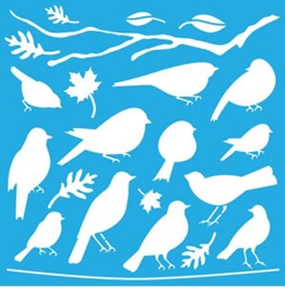 Picture of Decoart Stencil Feather Friends