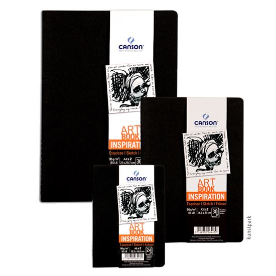Picture of Canson Art Book Inspiration Sketch Pad (Black) 96g