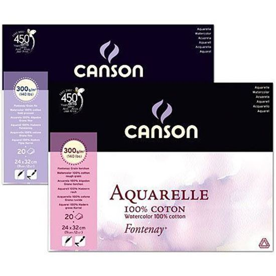 Picture of Canson Aquarelle Fontenay Watercolor100% Coton 300g 20 Sheets