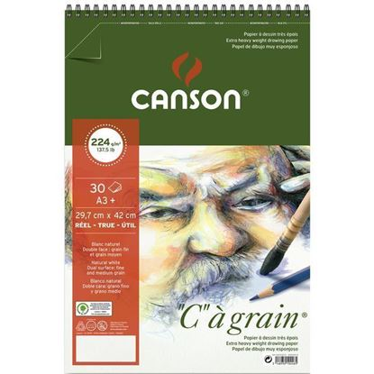 """Picture of Canson """"C"""" a grain 224 gsm Spiral"""