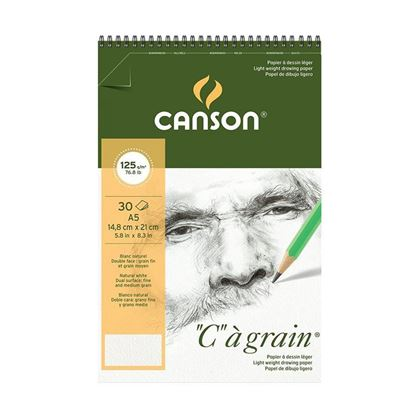 "Picture of Canson ""C""a grain 125 gsm Spiral"