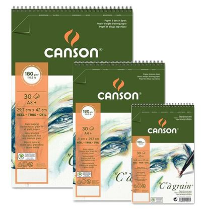 "Picture of Canson ""c""a grain 180 gsm Spiral"