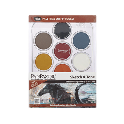 Picture of pan pastel sketch & tone