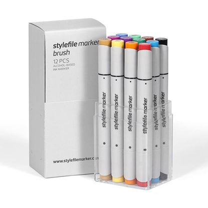 Picture of Stylefile Marker Brush 12 pcs Main C set