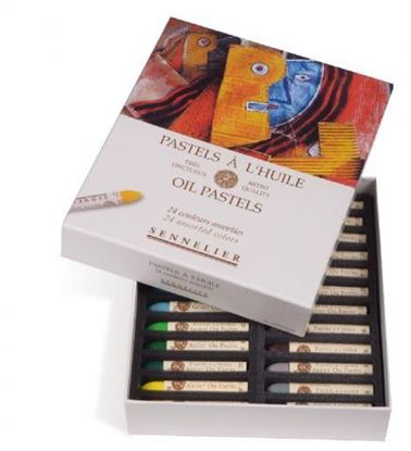 Picture of Sennelier Oil Pastel Cardboard Set of 24 Oil Pastel - Universal