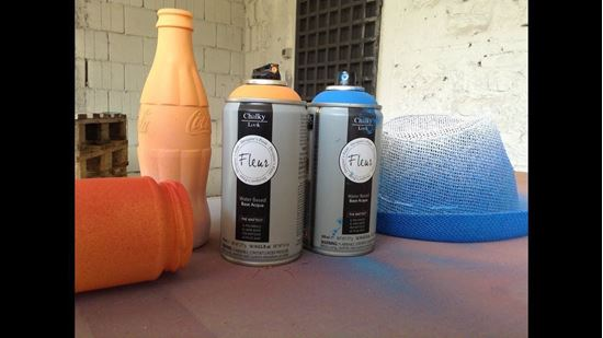 Chalky Spray Paint