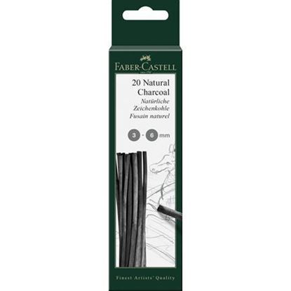 Faber Castell  - CHARCOAL NATURAL 3-6MM BLISTER - FC129198