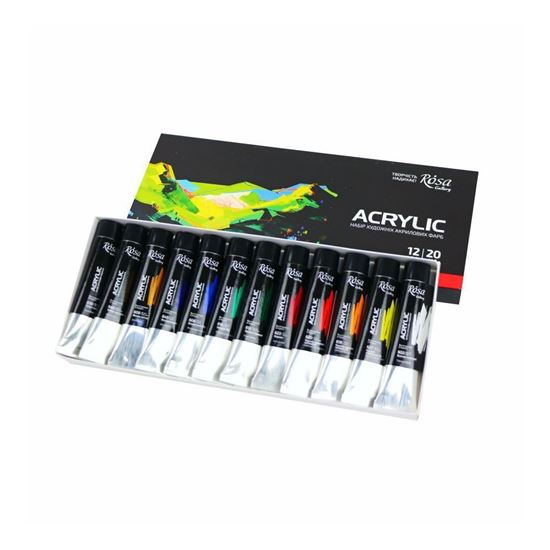 Rosa Acrylic paint set 12*20 ml, ROSA Gallery